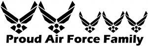 Proud Air Force Stick Family 3 Kids
