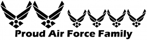 Proud Air Force Stick Family 4 Kids Stick Family car-window-decals-stickers