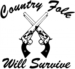 Country Folk Will Survive Country car-window-decals-stickers