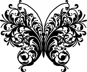 Swirl Butterfly Butterflies car-window-decals-stickers