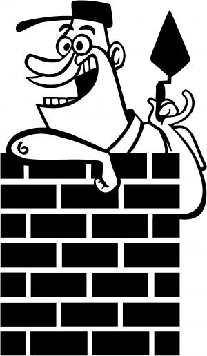 Brick Rock Mason Business car-window-decals-stickers
