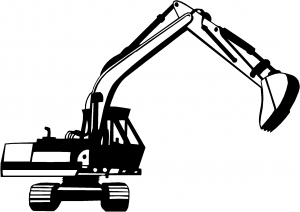 Track Hoe Excavator Construction