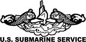 U.S. SUBMARINE SERVICE Military car-window-decals-stickers