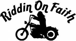 Riddin on Faith Motorcycle Christian car-window-decals-stickers
