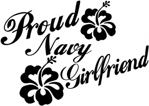 Proud Navy Girlfriend Military car-window-decals-stickers