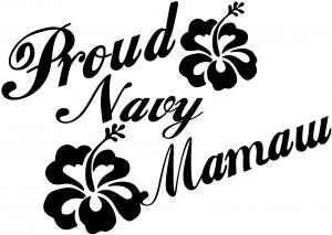 Proud Navy Mamaw Hibiscus Flowers