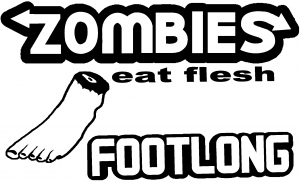 Funny Zombies Footlong Funny car-window-decals-stickers
