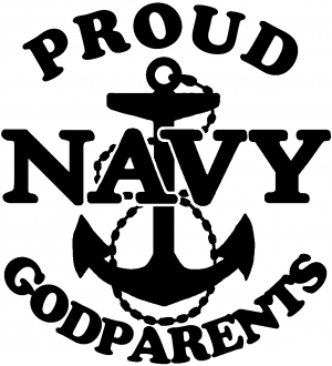 Proud Navy Anchor Godparents