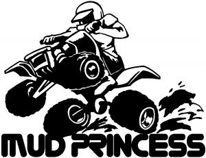 Mud Princess 4 Wheeler Off Road car-window-decals-stickers