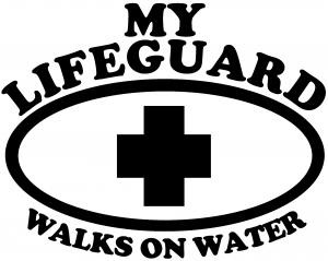 My Lifeguard Walks On Water Christian car-window-decals-stickers