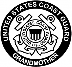 United States Coast Guard Grandmother Military car-window-decals-stickers