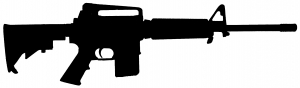 AR 15 M 16 Military Rifle Military car-window-decals-stickers