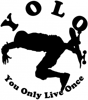 YOLO You Only Live Once Skateboard