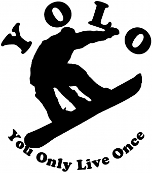 YOLO You Only Live Once Snowboarding solid