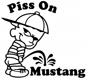 Piss On Mustang Pee Ons car-window-decals-stickers