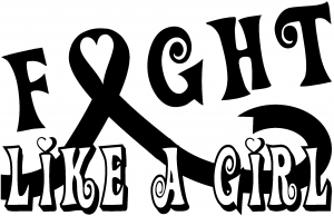 fight like a girl breast cancer car or truck window decal sticker