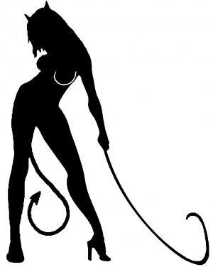 Devil Girl With Whip
