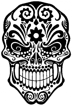 Tattoo Sugar Skull Swirl Car Or Truck Window Decal Sticker Rad - Skull decals for trucks