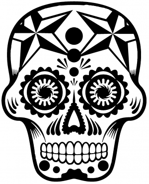 Tattoo Sugar Skull Nautical Star