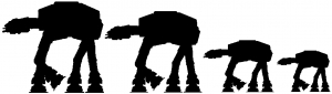 AT AT Star Wars Stick Family Sci Fi car-window-decals-stickers