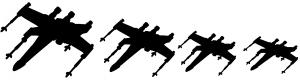 X Wing Star Wars Stick Figure Family