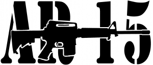 AR 15 Military Rifle With Text Guns car-window-decals-stickers