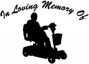 In Loving Memory Of With Handicap Scooter Other car-window-decals-stickers