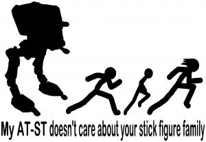 AT ST Doesnt Care Stick Family