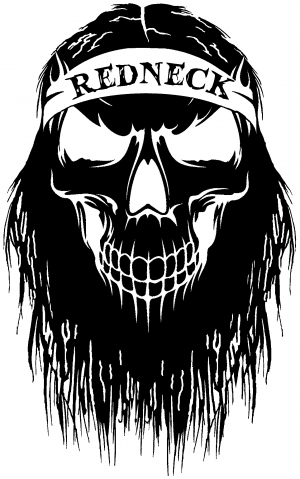 Redneck skull beard car or truck window decal sticker rad dezigns