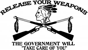 Indian Release Your Weapons Guns Guns car-window-decals-stickers