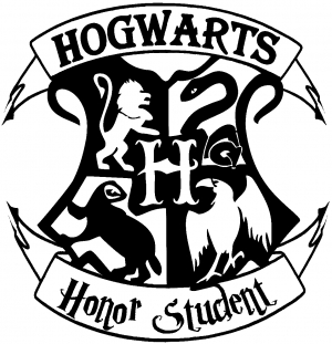 Hogwarts Honor Student Harry Potter Sci Fi car-window-decals-stickers