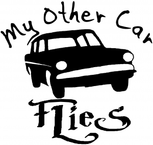 My Other Car Flies Harry Potter Sci Fi car-window-decals-stickers