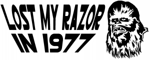 Star Wars Chewbacca Lost My Razor In 1977 Sci Fi car-window-decals-stickers