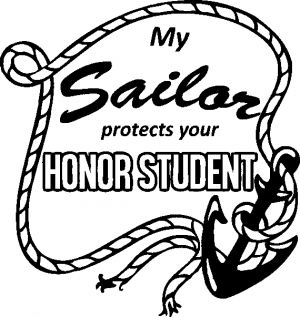 My Sailor Protects Your Honor Student Military car-window-decals-stickers
