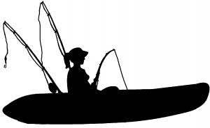 Girl Kayak Fishing