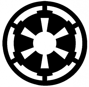 star wars galactic empire emblem car or truck window decal. Black Bedroom Furniture Sets. Home Design Ideas