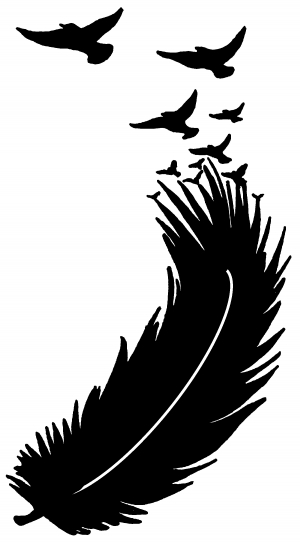 Feather Turning Into Birds Car Or Truck Window Decal
