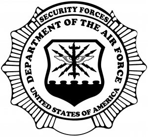 Department Of The Air Force Security Forces Round Badge