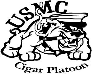 USMC Cigar Platoon Military car-window-decals-stickers