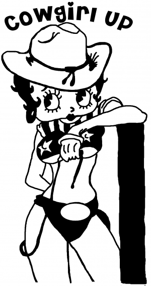 Cowgirl Up Betty Boop Car Or Truck Window Decal Sticker Rad Dezigns