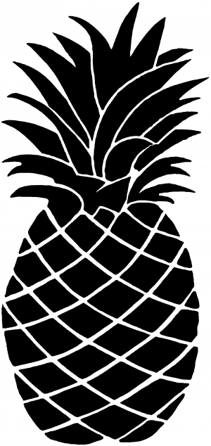 Pineapple Other car-window-decals-stickers