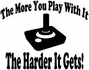The More You Play With It Atari Video Games Funny car-window-decals-stickers