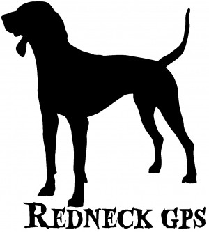 Redneck GPS Coon Dog Car Or Truck Window Decal Sticker Rad Dezigns - Redneck window decals for trucks