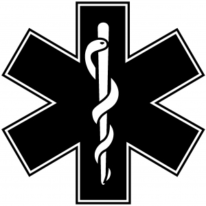 EMT Star of Life Military car-window-decals-stickers