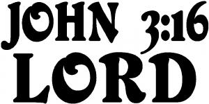 John 3 16 Lord Christian car-window-decals-stickers