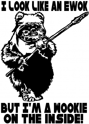 Star Wars Look Like An Ewok Wookie On The Inside Sci Fi car-window-decals-stickers