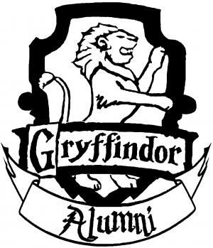 Harry Potter Gryffindor Alumni Sci Fi car-window-decals-stickers