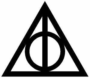 Image result for deathly hallows harry potter symbol