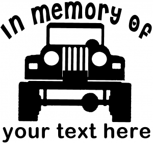 In Memory Of Jeep Off Road car-window-decals-stickers