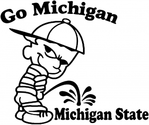Go Michigan Pee On Michigan State Pee Ons car-window-decals-stickers